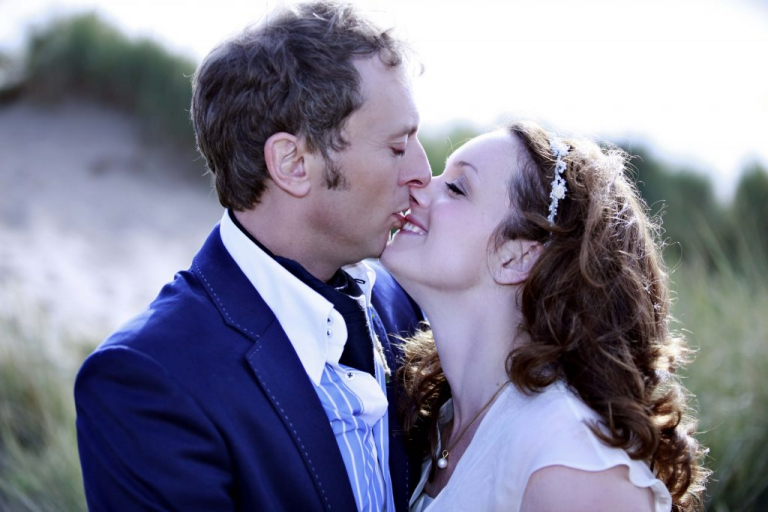 You can't beat a great 'kiss' shot, its a chance for a couple to really be in the moment with each other. I especially love her smile in this one, theres no awareness, no stress, its perfect!