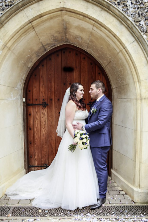 I do love a doorway, the prettier the better! Church buildings are fabulous and this doorway really frames the couple. This shot was taken at The Twelve Apostles church in Hertfordshire which is a Greek orthodox church. Full of tradition and great for couples shots.