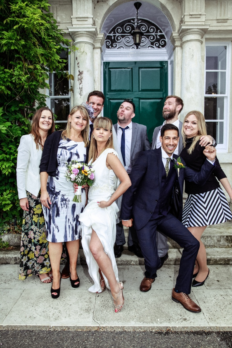 wedding group shots, hertfordshire and London wedding photographer