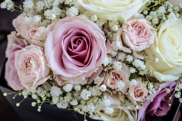 Bridal bouquet pink roses